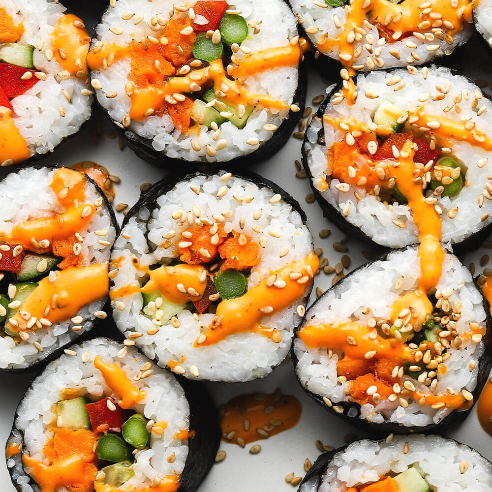 Sweet Potato Fries Veggie Sushi Roll